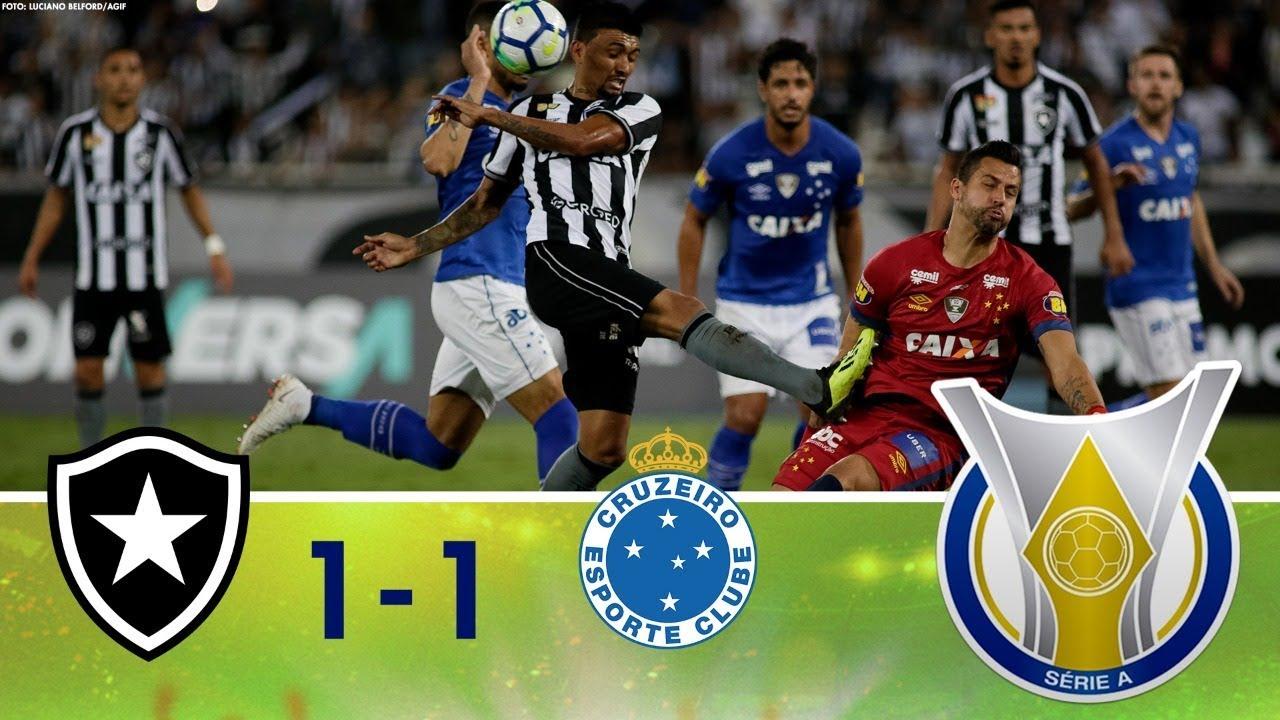 d2f822a8aa Melhores Momentos - Botafogo 1 x 1 Cruzeiro - Campeonato Brasileiro  (05 09 2018)