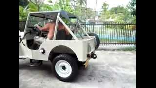 1964 Jeep CJ 3B Startup and Sound