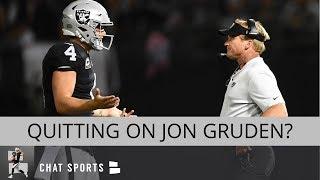 Oakland Raiders Rumors: Derek Carr's Future, Quitting On Jon Gruden, Remaining Schedule