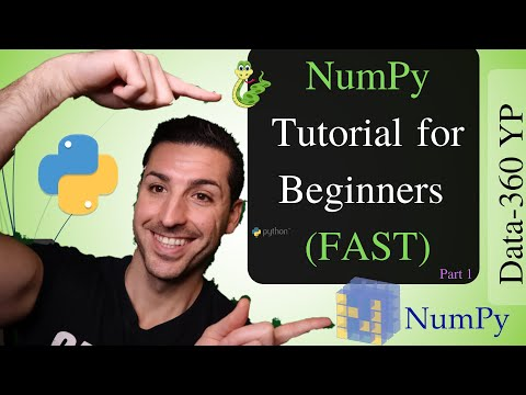 NumPy Python Tutorial for Beginners [2019] thumbnail