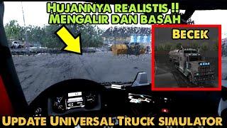 Download Hujan di kacanya real banget !! Review Update mode Hujan UTS Universal Truck simulator