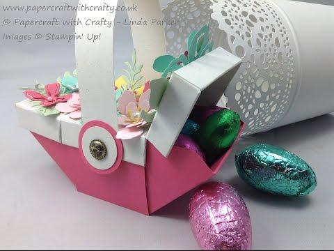 Envelope Punch Board Easter Picnic Basket - Stamping' Up! Botannical Blooms