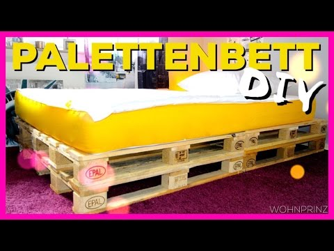 palettenbett mit led beleuchtung diy jbtv doovi. Black Bedroom Furniture Sets. Home Design Ideas