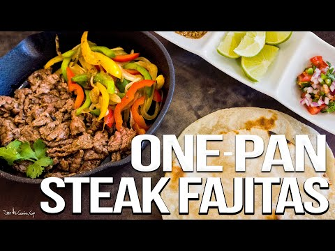 The Best Steak Fajitas – Easy Mexican Food Favorite | SAM THE COOKING GUY 4K
