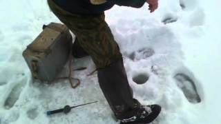 первый раз на зимней рыбалке.