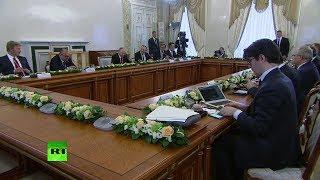 Путин проводит встречу с руководителями мировых информагентств