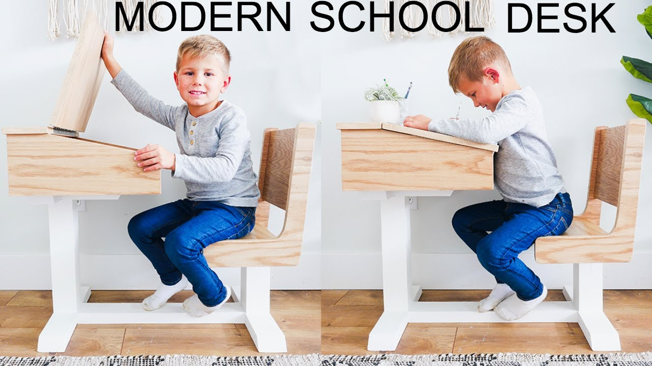 diy kid s school desk
