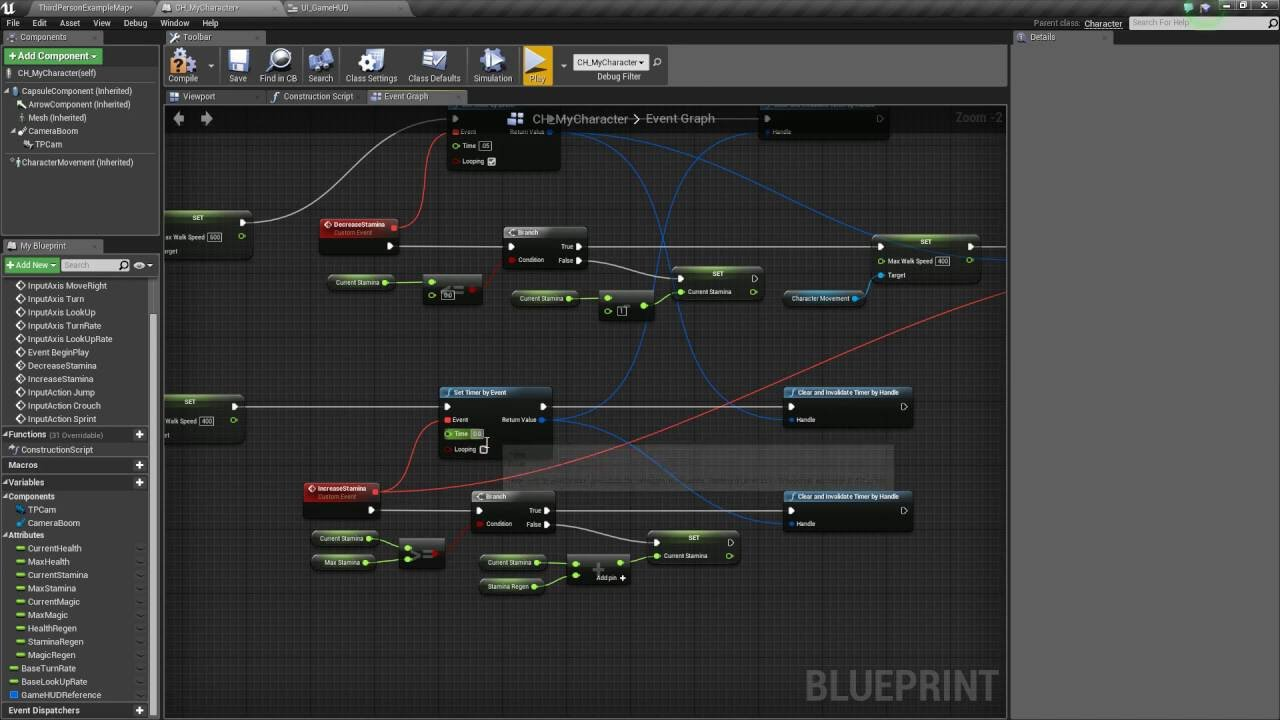 Unreal engine 4 adding sprint crouch jump part 3 clipzui malvernweather Image collections