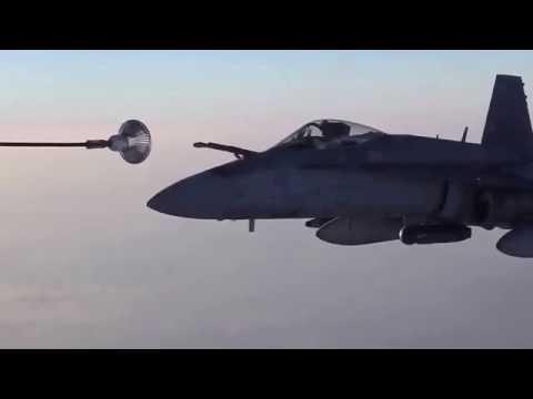 Australian F 18s & British Eurofighters Get Gas Over Iraq