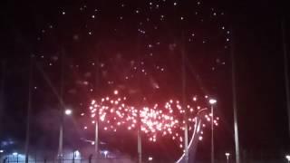Шоу фейерверков в Олимпийском парке Сочи