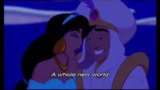 Aladdin - A Whole New World video + lyrics
