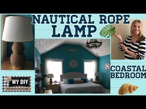 nautical-rope-lamp-|-coastal-bedroom-ideas-|-upcycle!