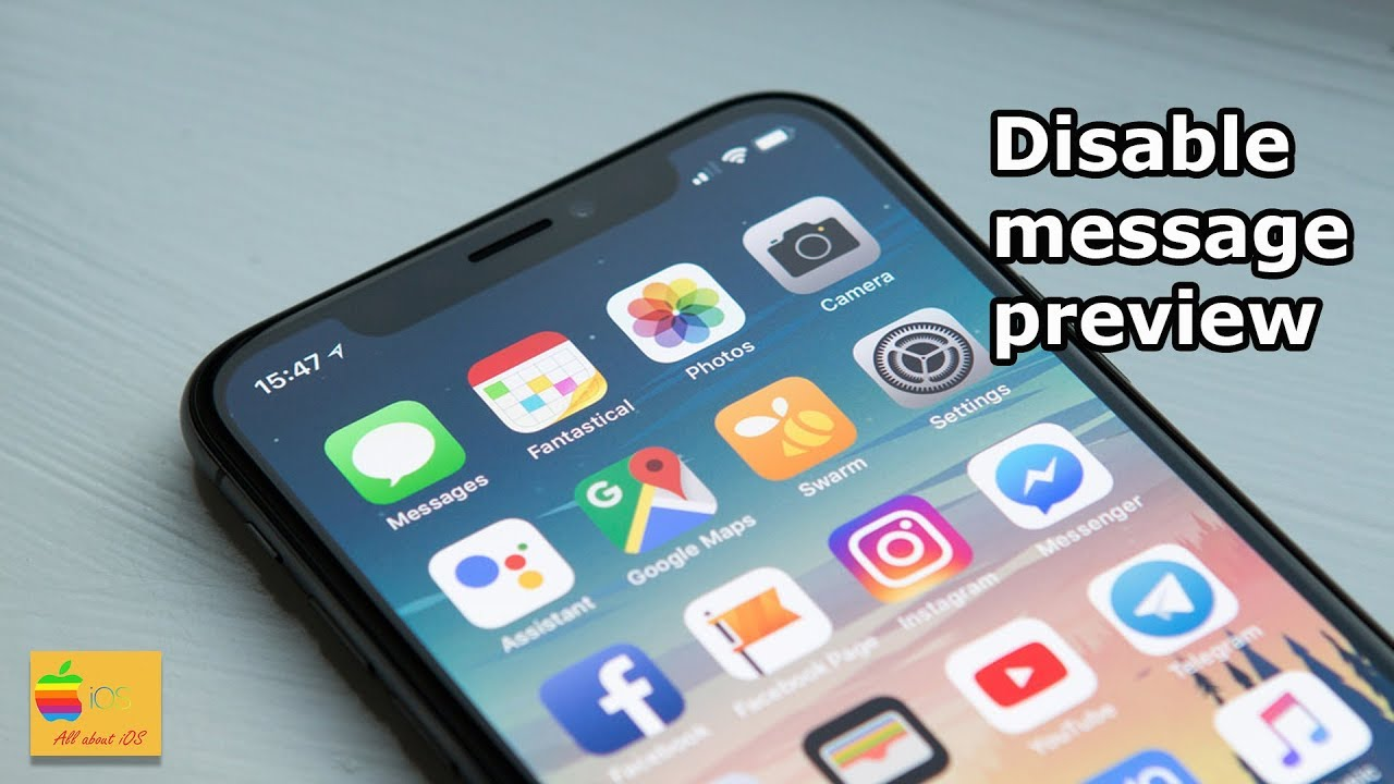 How to turn off message preview on the lock screen of iPhone x