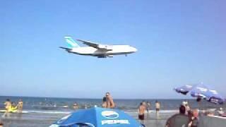 Larnaca, Cyprus, Airport beach with an ANTONOV
