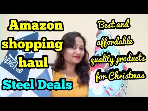 Amazon home decor shopping haul for Christmas,Steel Deal shopping,anvesha's creativity