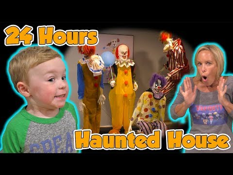 24 Hours in a Haunted House with Halloween Animatronics for Jagger's Birthday! | DavidsTV