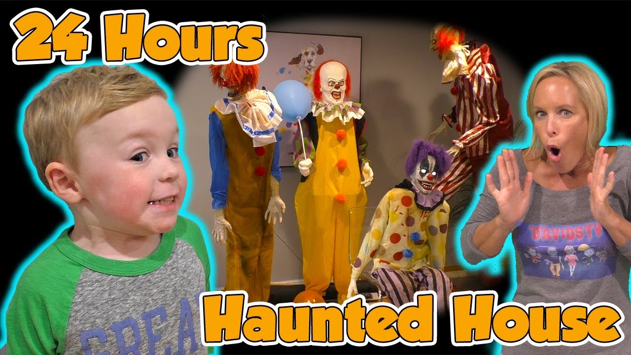 24 Hours in a Haunted House with Halloween Animatronics for Jagger\u0027s  Birthday!