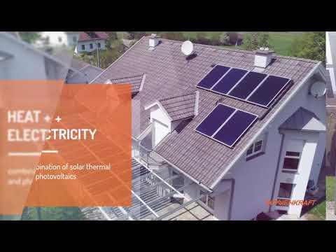 Solar power canopy - terrace