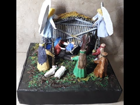 How to make simple Nativity scene using newspaper? Part 1
