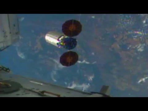 ISS - Cygnus OA-6 full release of Orbital ATK cargo ship