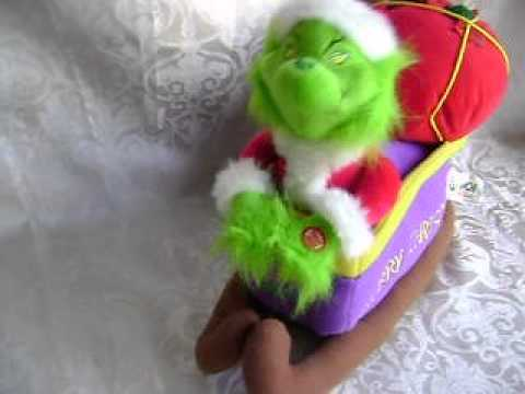 DR SEUSS~ANIMATED~MUSICAL~GRINCH~SLEIGH~STOLEN CHRISTMAS PRESENTS~MAX~DOG~PLUSH!