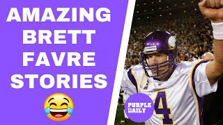 AMAZING Brett Favre Stories From 2009 Minnesota Vikings Run
