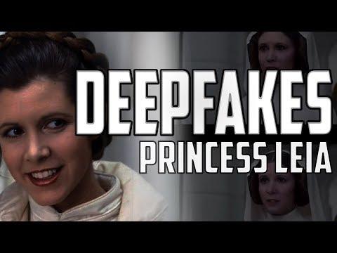 Princess Leia CGI   Deepfakes Replacement