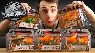 ALL JURASSIC WORLD ATTACK PACK DINOS!!! - Mattel Review and Unboxing