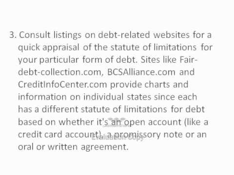 How To Determine Debt Collection Statute Of Limitations