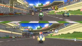 Mario Kart Wii Online Two-Player VS. Races (Recorded on 6/17/13)
