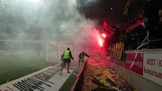 AIK-fans på Guldfågeln Arena (AIK svenska mästare 2018)