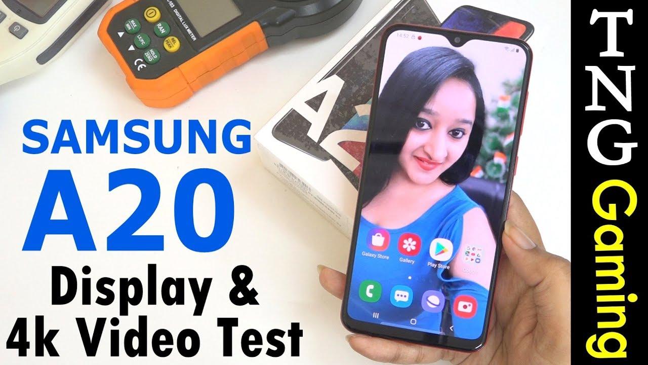 Samsung Galaxy A20 - 4K Video & Display Test