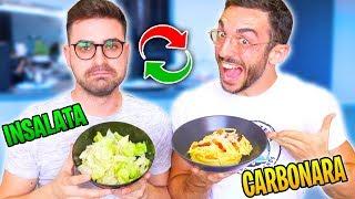 CI SCAMBIAMO LA DIETA PER 24 ORE! - Fit vs Fat