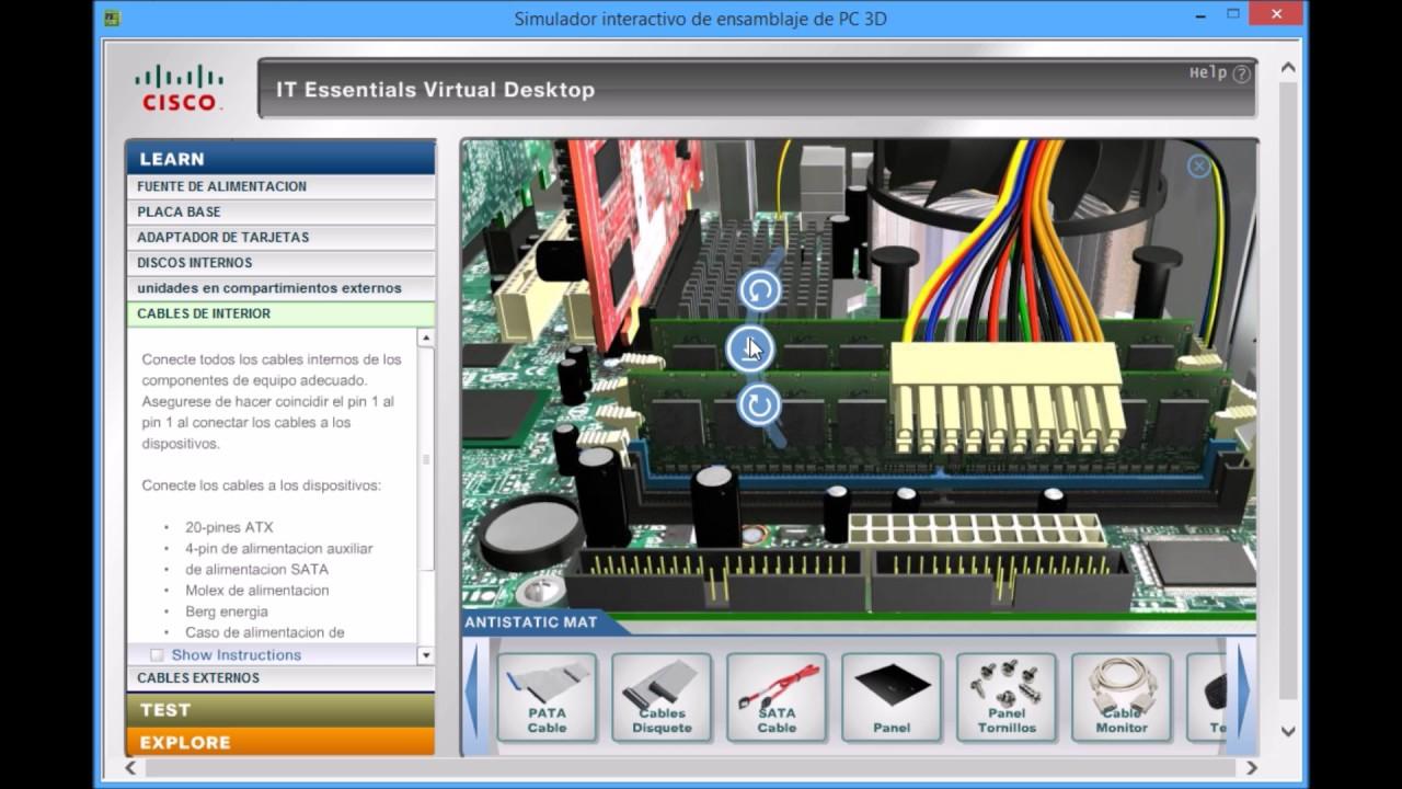 Simulador de ensamblaje de una pc en 3d youtube for Simulador de habitaciones 3d online