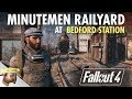 MINUTEMEN RAILYARD AT BEDFORD STATION Realistic Fallout 4 Settlement Tour Part 1 Of 2 mp3