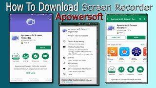 How To Download Apowersoft Screen Recorder in Android Mobile Hindi/Urdu Akmal Pardasi