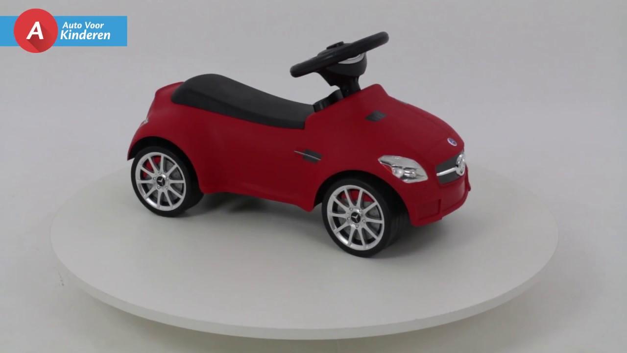 Auto Voor Kinderen Mercedes Loopauto Rood Youtube