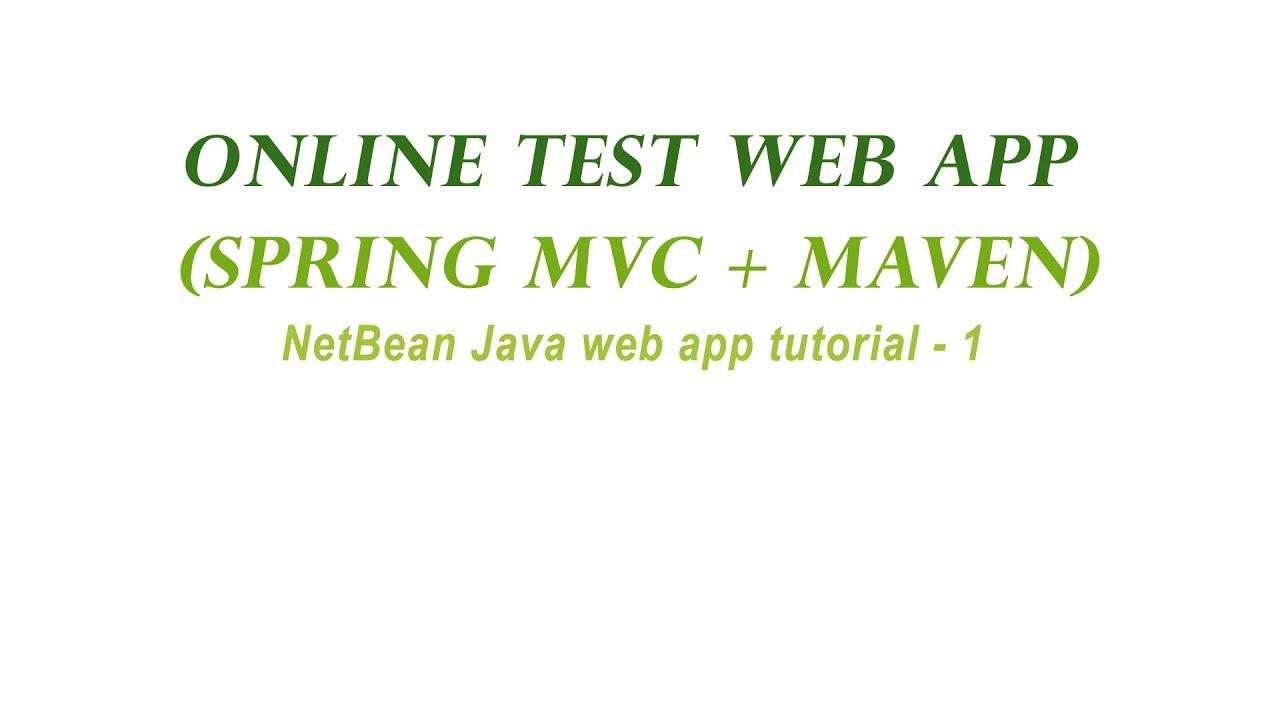 1 Online Test Java Web App In NetBeans (Spring mvc , Maven , MySQL)