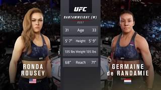 EA SPORTS UFC 3 Ronda Rousey VS Germaine De Randamie