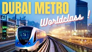 Dubai WorldClass Metro Train Metro Station *HD*