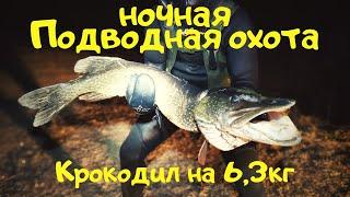 Ночная подводная охота Трофейная щука