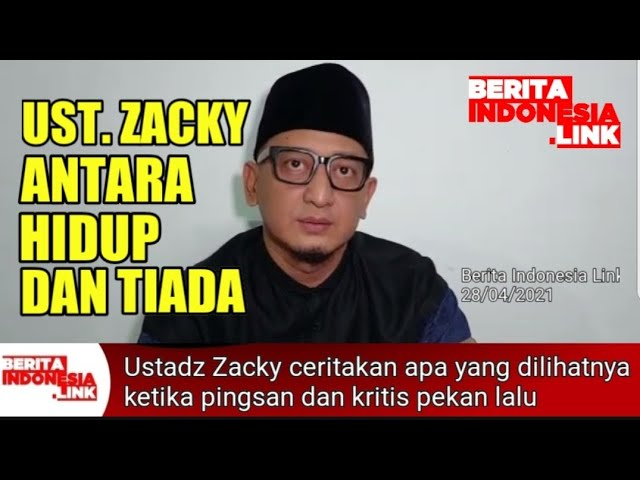 Cerita Ustadz Zacky Mirza melihat wajah orang tuanya saat pingsan - Berita Indonesia Link
