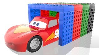 Lego Lightning Mcqueen Disney Cars 3 Colors Learn With Coca Cola Bottles Bonny Kids