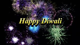 Happy Diwali HD greeting video clip