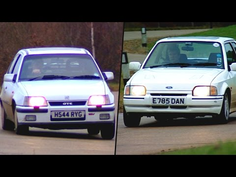 Vauxhall Astra GTE vs Ford Escort: '80s Shootout #TBT - Fifth Gear