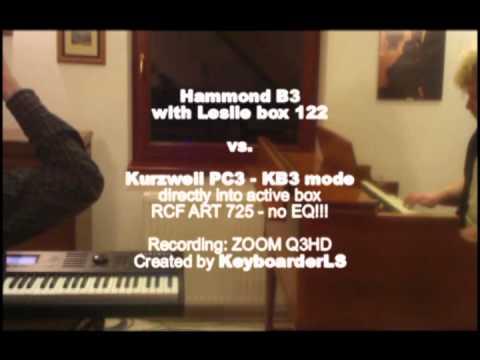 Hammond B3 vs Kurzweil PC3