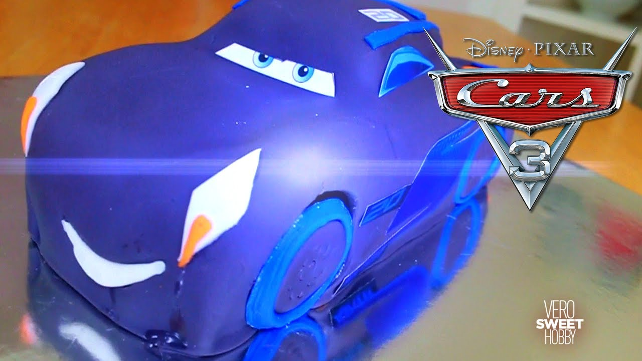 CARS 3 JACKSON STORM HOW TO MAKE A BIRTHDAY CAKE VeroSweetHobby Disney Cars Pixar