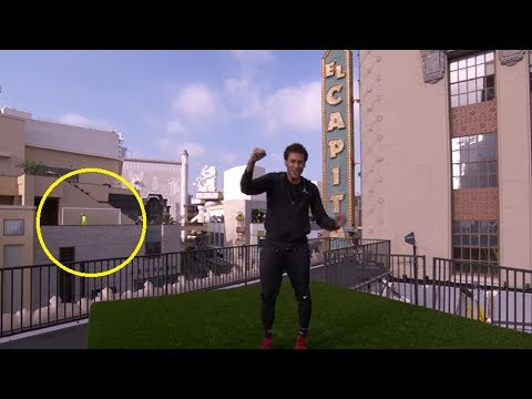Neymar Scores Crazy 150-Foot Roof-to-Roof Goal Across Hollywood Boulevard!