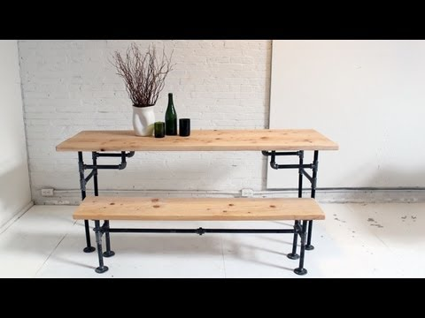 HomeMade Modern, Episode 3 -- DIY Wood + Iron Table