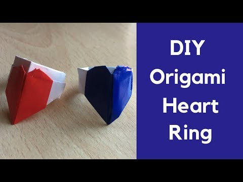 How to Make Paper Heart Ring - DIY Paper Jewelry